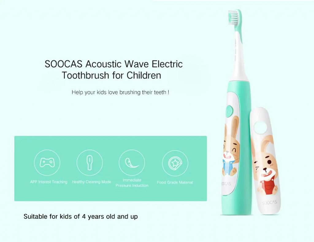 coupon, gearvita, SOOCAS C1 Cute Portable Electric Toothbrush for Kids