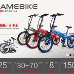 Kupon, gearbest, Samebike JG20 Akıllı Katlanır Elektrikli Moped Bisiklet Yeni stil E-bike