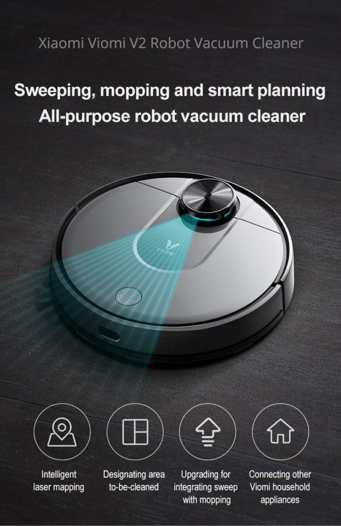 coupon, banggood, VIOMI V2 Smart Robot Vacuum Cleaner
