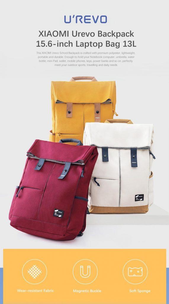 coupon, gearvita, XIAOMI Urevo 13L College School Leisure Backpack 15.6-inch Laptop Bag