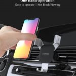 Xiaomi CARFOOK Gravity Linkage Automatical Lock 360° Rotation Air Vent Car Phone Holder For 4.7 Inch - 6.5 Inch Smart Phone - Silver, COUPON, BANGGOOD