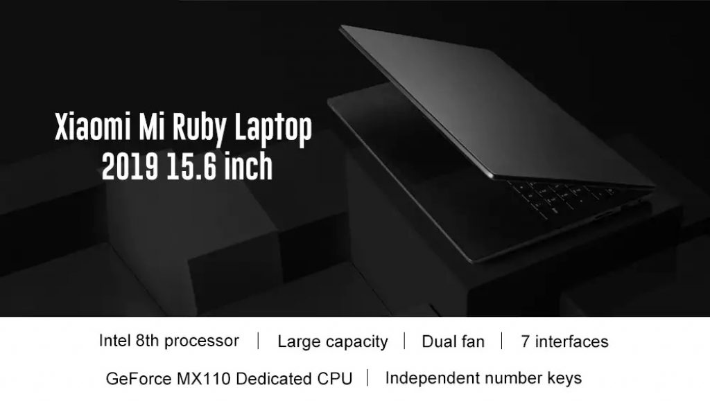 coupon, gearbest, Xiaomi Mi Ruby Notebook 2019 8GB RAM 512GB SSD