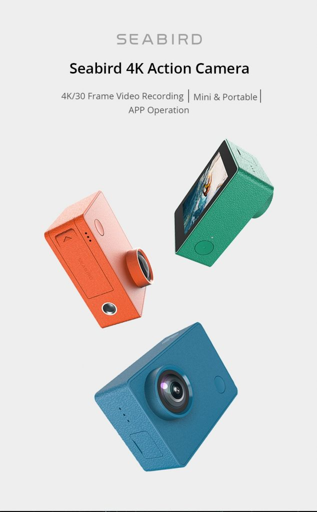 Phiếu giảm giá, gearvita, Camera thể thao Xiaomi Mijia Seabird 4K 30fps