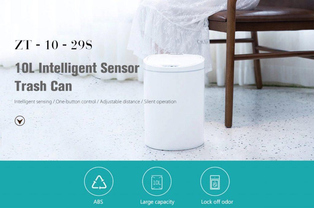 Phiếu giảm giá, gearbest, ZT - 10 - 29S 10L Thùng rác cảm biến thông minh có thể từ Xiaomi youpin