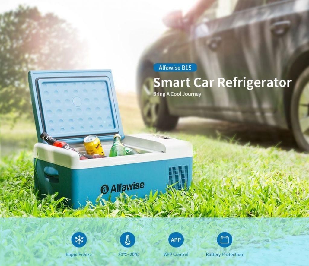 Phiếu giảm giá, gearbest, Alfawise B15 15L Tủ lạnh di động thông minh Tủ lạnh Tủ lạnh