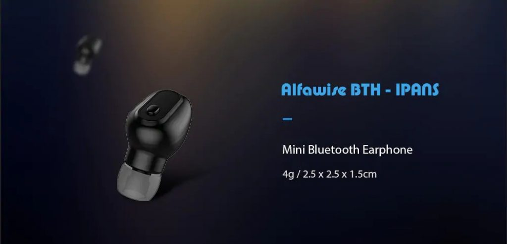coupon, gearbest, Alfawise BTH - IPANS Mini Bluetooth Earphone Single Earbud