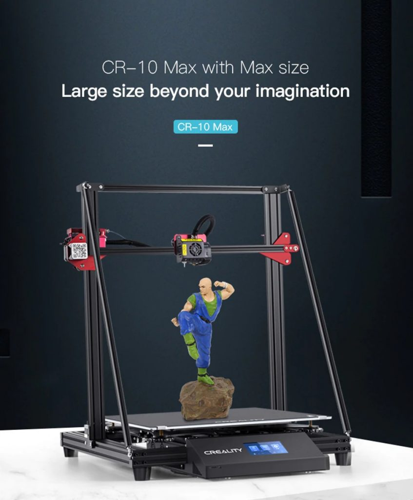 coupon, gearbest, Creality CR - 10 Max 450 x 450 x 470mm 3D Printer