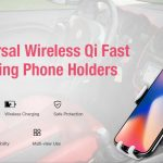 coupon, gearbest, Gocomma 10W QI Wireless Fast Charger Car Mount Holder