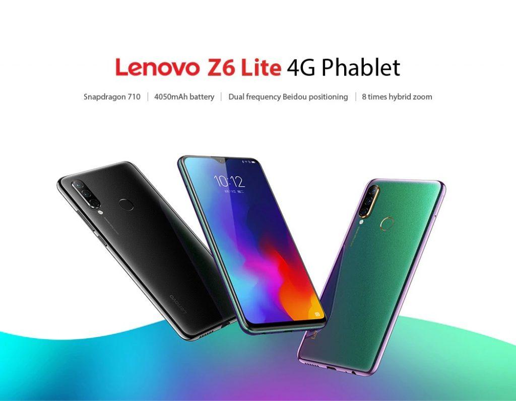 kupón, převodovka, Lenovo Z6 Lite 4G Phablet Smartphone