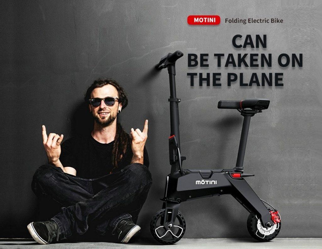 coupon, gearbest, MOTINI Nano Mini Portable Electric Bike
