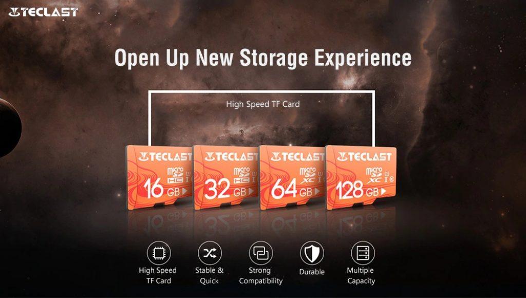 kupón, převodovka, Teclast Vysokorychlostní vodotěsná Micro SD TF karta UHS - 1 U1 - Light Salmon 128GB