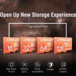 coupon, gearbest, Teclast Scheda SD Micro SD ad alta velocità impermeabile UHS - 1 U1 - Salmone leggero 128GB