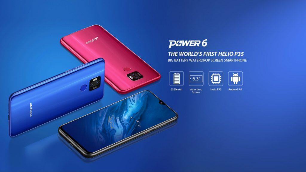 gearbest, coupon, banggood, Ulefone Power 6 6.3 inch 6350mAh 16MP Dual Rear Camera NFC 4GB 64GB Helio P35 Octa core 4G Smartphone