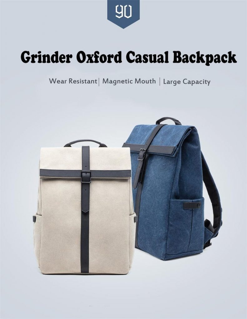 coupon, gearvita, Xiaomi 90FUN Grinder Oxford Casual Backpack 15.6 inch Laptop Bag