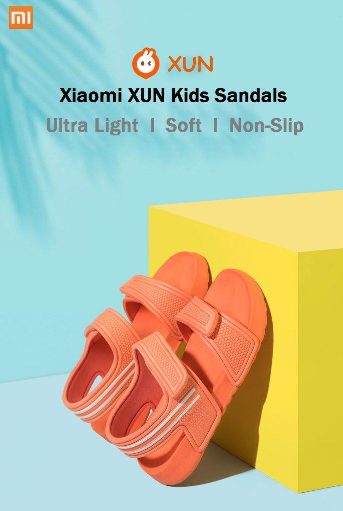 coupon, banggood, Xiaomi XUN Kids Sandals Ultra light Soft Non-slip Durable Outdoor Activities Sports Sandals Slippers
