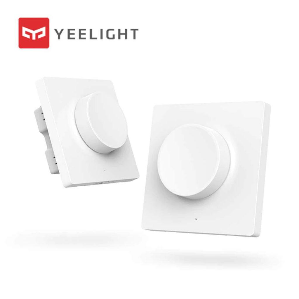 coupon, banggood, Xiaomi Yeelight YLKG08YL Smart bluetooth Wireless Wall Pasted Dimmer Light Switch