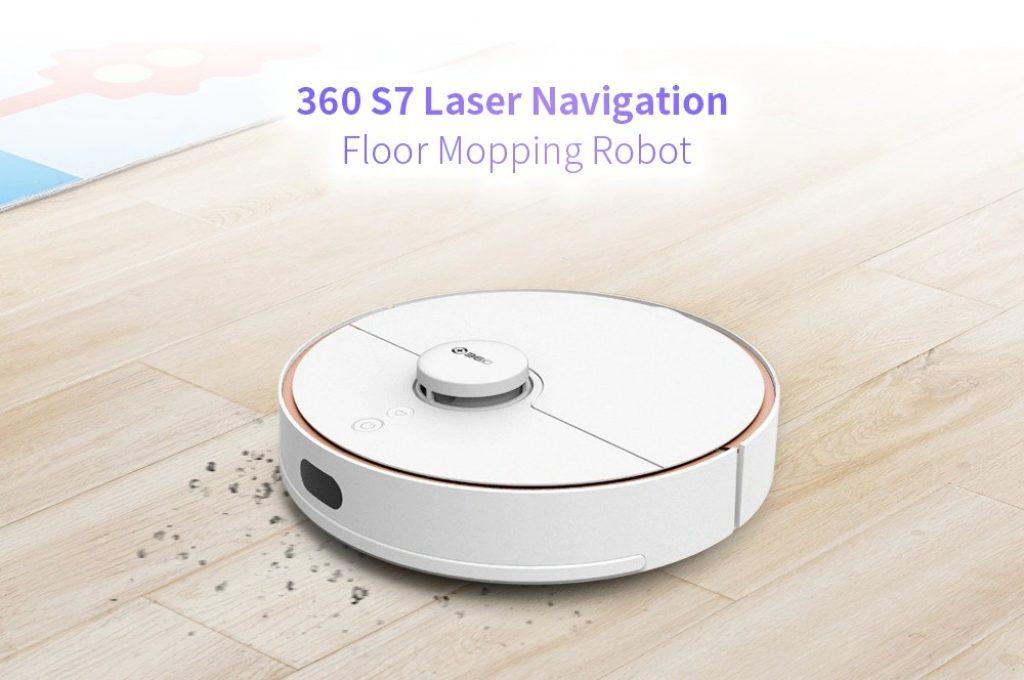 kupong, banggood, 360 S7 Laser Navigation Robot Støvsuger