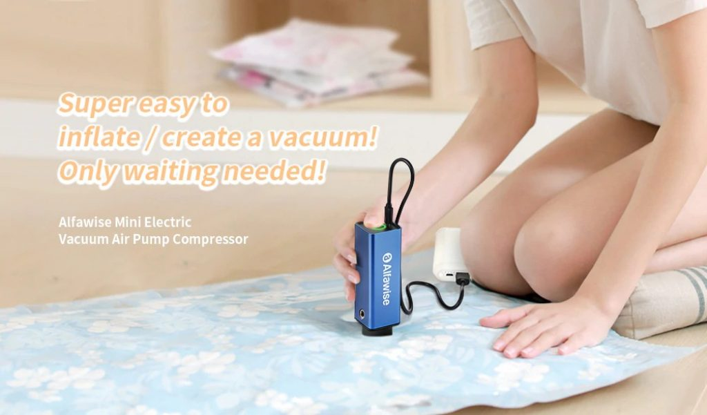 coupon, gearbest, Alfawise Handheld Mini Electric Vacuum Pump Compressor