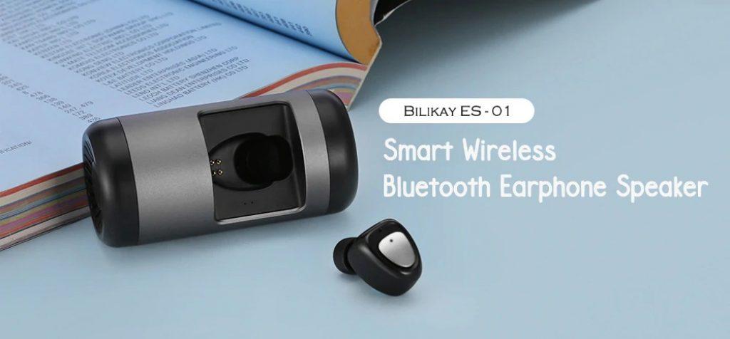 coupon, gearbest, Bilikay ES - 01 Smart Wireless Earphone Speaker