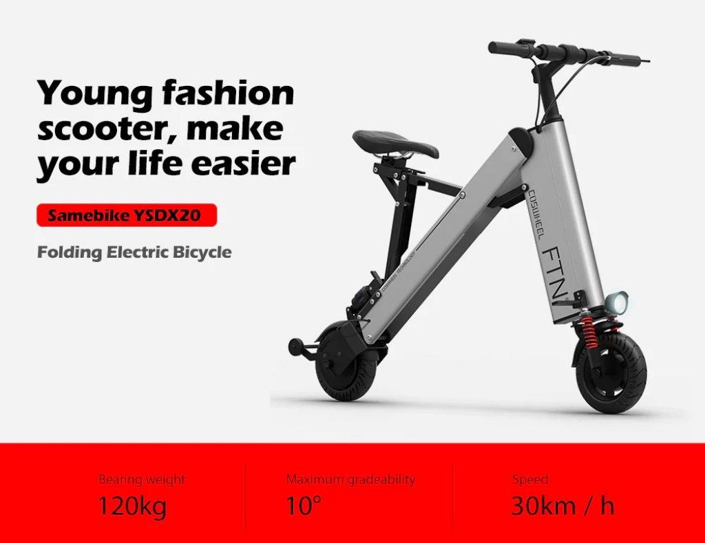 Phiếu giảm giá, gearbest, COSWHEEL A2 Folding 10AH 36V 350W Xe đạp điện