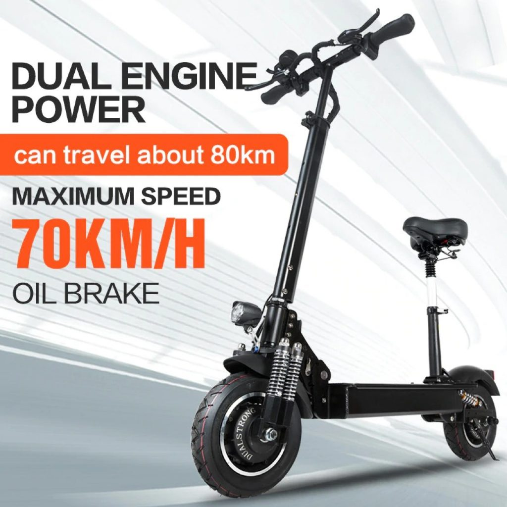 coupon, banggood, Janobike 2000W Dual Motor 23.4Ah 10 Inches Folding Electric Scooter