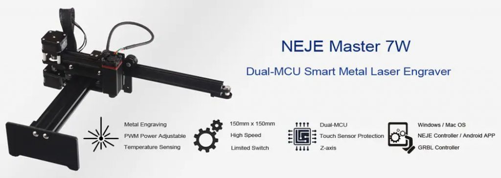 coupon, gearbest, NEJE MASTER 7W Personal Laser Engraving Machine