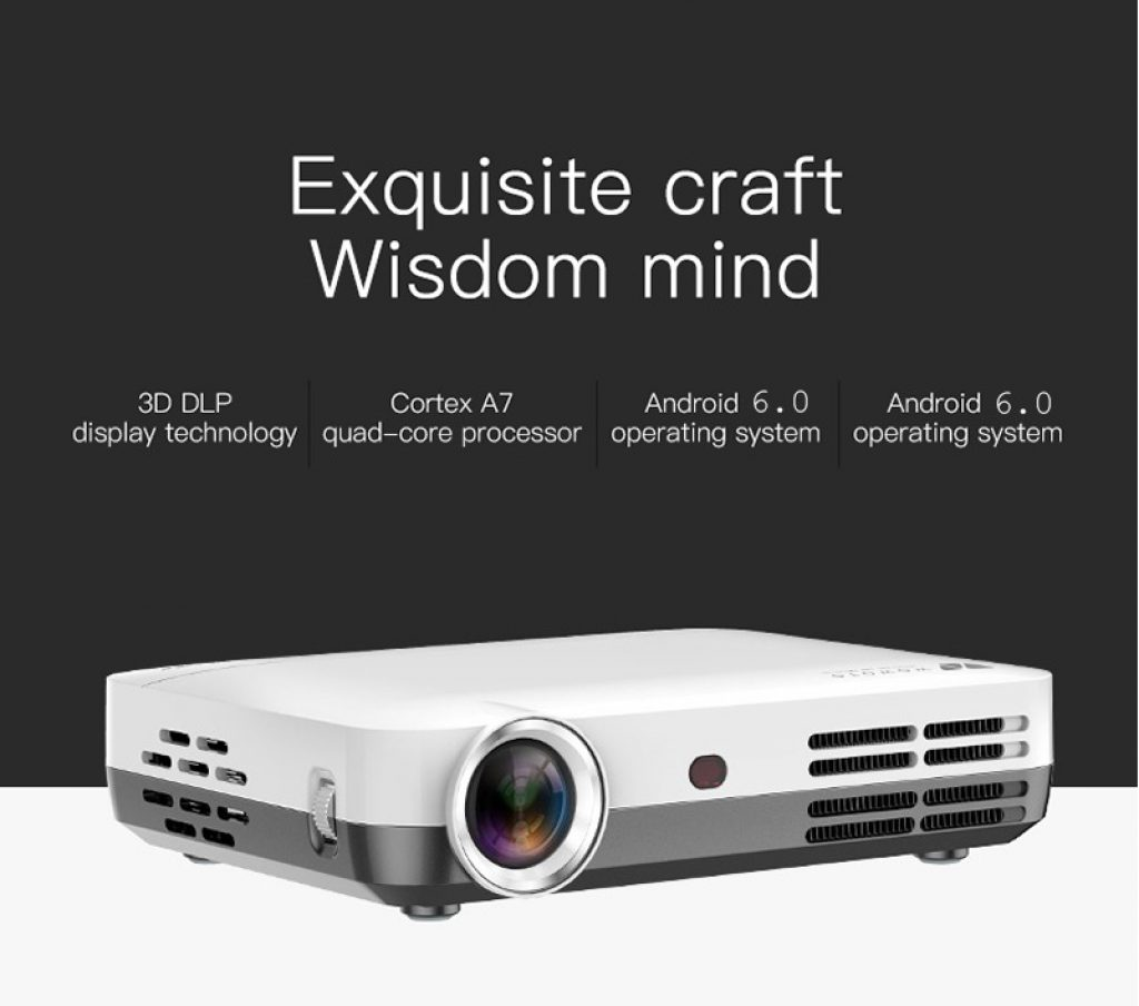 gearbest, coupon, banggood, Wowoto H10 DLP Smart Projector 4500 Lumens Supports 4K Wifi Bluetooth Projector