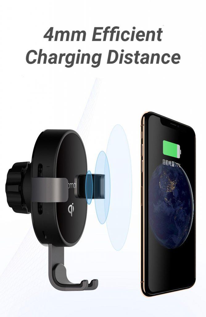 coupon, banggood, XIAOMI 70mai MiDrive PB01 QI Certification Car Phone Holder 10W Fast Wireless Charger