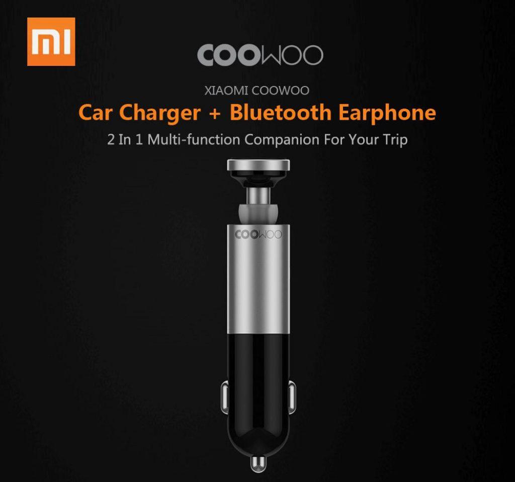Phiếu giảm giá, gearvita, Xiaomi CooWoo BC200 2 trong 1 Bộ sạc xe hơi USB Tai nghe không dây Bluetooth