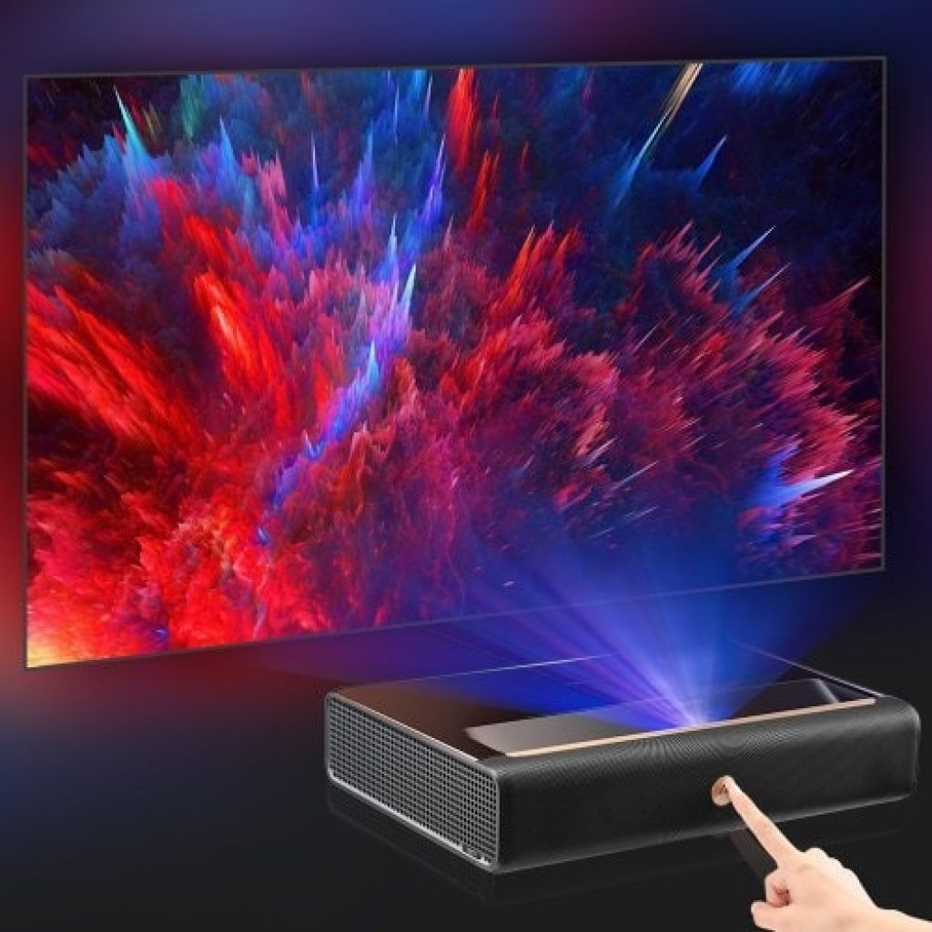 kupon, gearbest, Xiaomi Ecosystem WEMAX L1668FCF 4K Ultra Maikling Throw Laser Projector TV Home Theatre