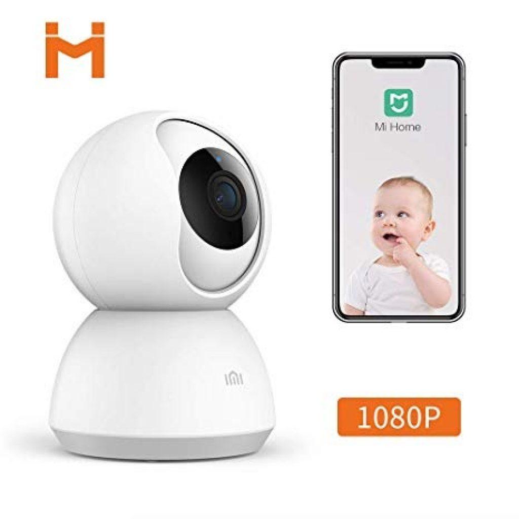 Xiaomi Mijia CMSXJ03C Smart 1080P PT WIFI 360° Panorama IP Camera Baby Monitors Home Wireless WIFI Camera HD Infrared Night Vision - White, COUPON, BANGGOOD