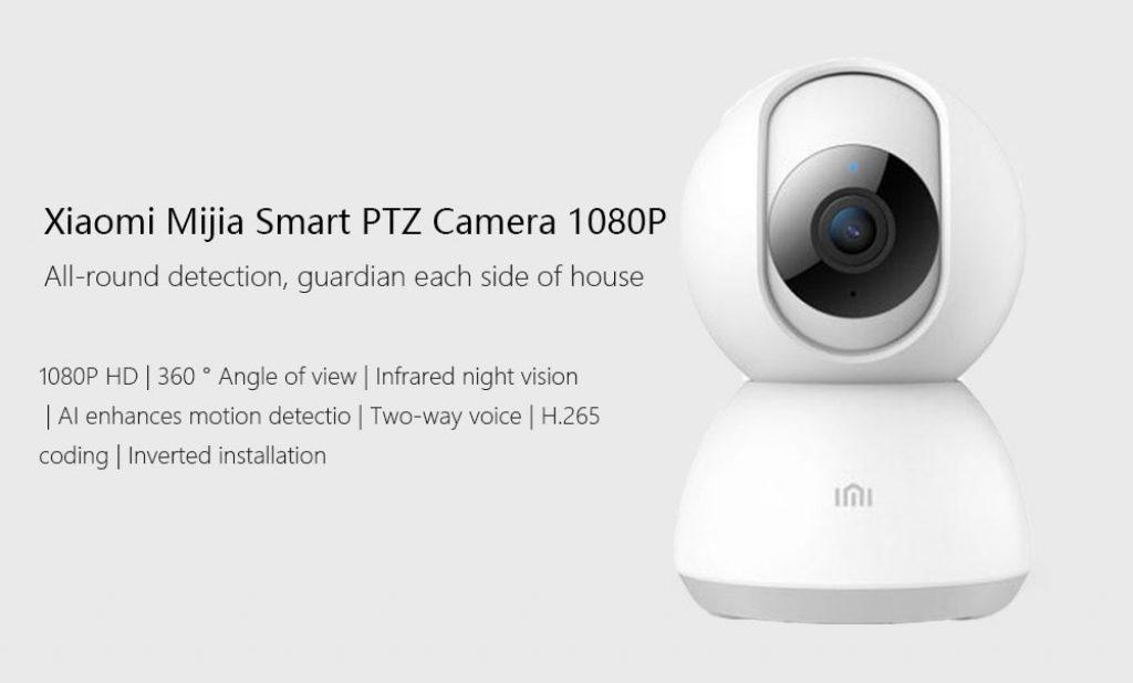 coupon, banggood, Xiaomi Mijia Chuangmi 1080P EU Plug Strengthen Night Vision H.265 360° PTZ Smart WIFI IP Camera