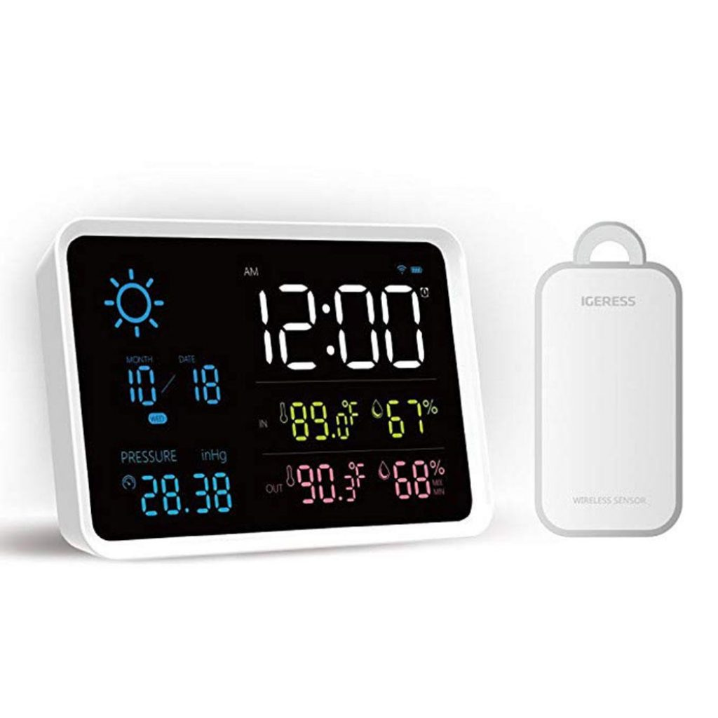 coupon, banggood, YUIHome Indoor Outdoor Digital Weather Station Temperature And Humidity Display Atmospheric Pressure Weather Forecast Alarm Clock from Xiaomi Youpin