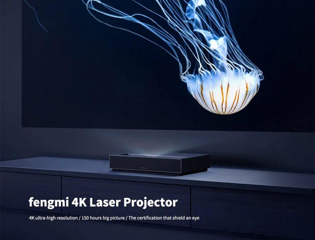 cupom, gearbest, fengmi 4K Projetor Laser xiaomi