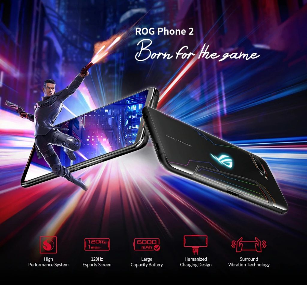 banggood, קופון, gearbest, טלפון ASUS ROG 2 Gaming 4G Phablet Smartphone