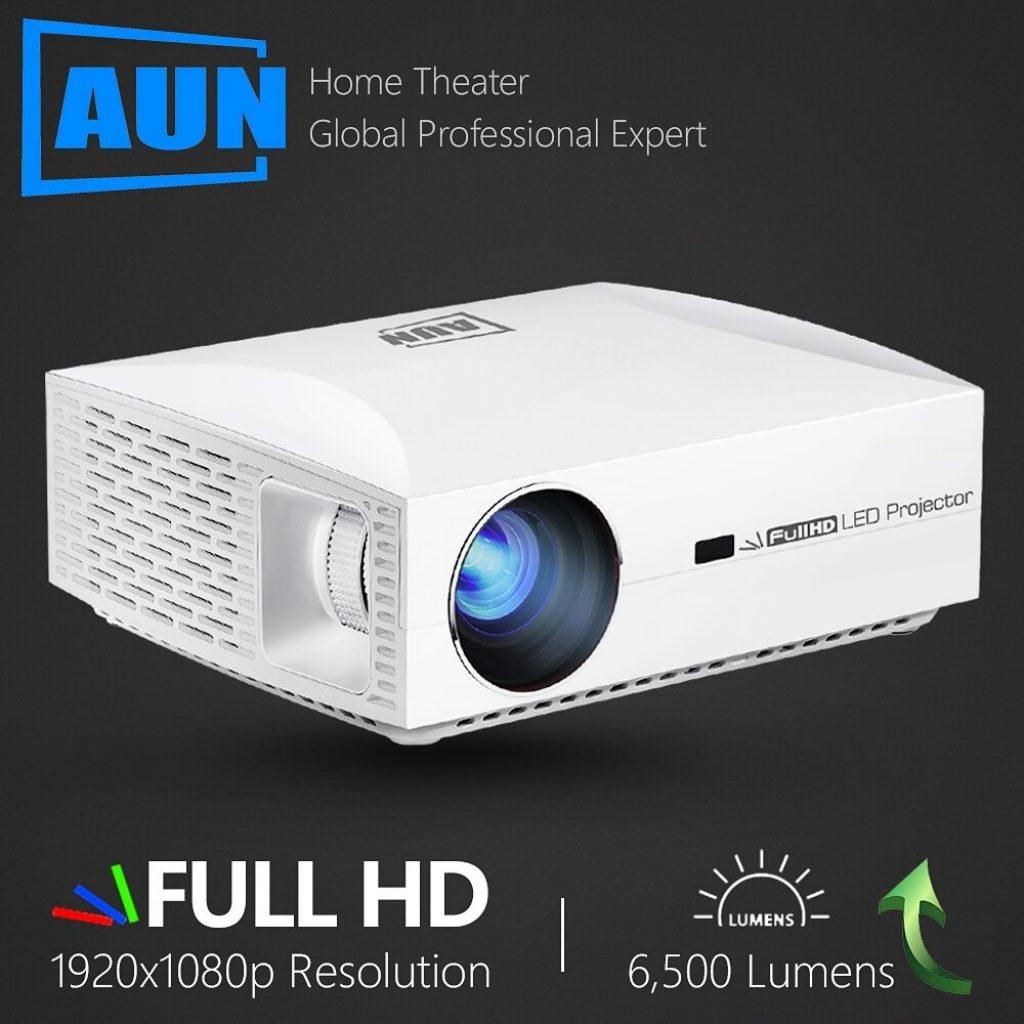 쿠폰, Banggood, AUN F30 Projetor Full HD 1920x1080. 홈 시어터 5500 루멘 3D 4K 프로젝터