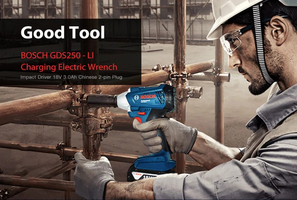 coupon, gearbest, BOSCH GDS250 - LI Charging Electric Wrench Impact Driver