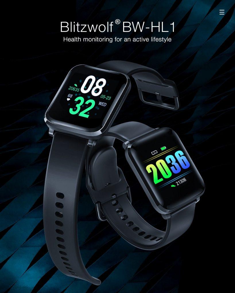 coupon, banggood, BlitzWolf® BW-HL1 1.3' IPS 8 Sports Mode IP68 Multi-language Display HR Blood Pressure O2 15Days Standby Smart Watch