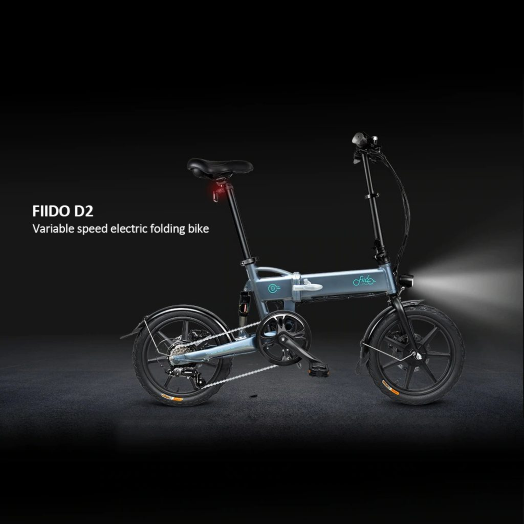 tomtop, coupon, gearbest, FIIDO D2 Shifting Version Variable speed Folding Moped Electric Bike