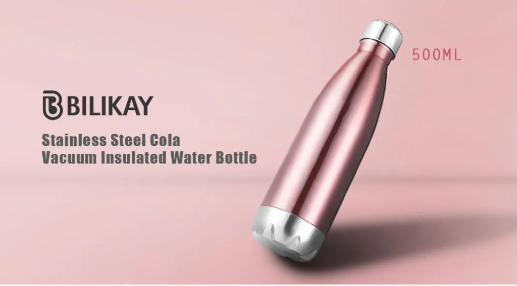coupon, gearbest, Gocomma Stainless Steel Insulated Water Bottle Cola Style 500ml