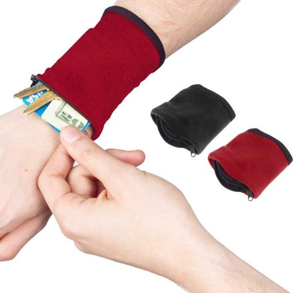 coupon, banggood, Honana HN-B9 3 Colors Zipper Wristband Organizer Pocket Card Coin Key Storage Bag Sport Wallet