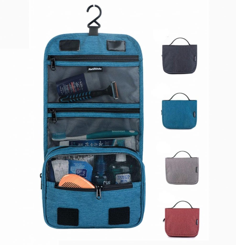 coupon, banggood, Naturehike 17X001-S Travel Waterproof Toiletry Wash Bag Hanging Make Up Cosmetic Pouch Storage Pack