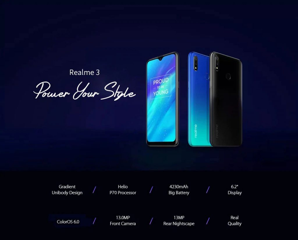 coupon, gearbest, OPPO Realme 3 4G Phablet Smartphone