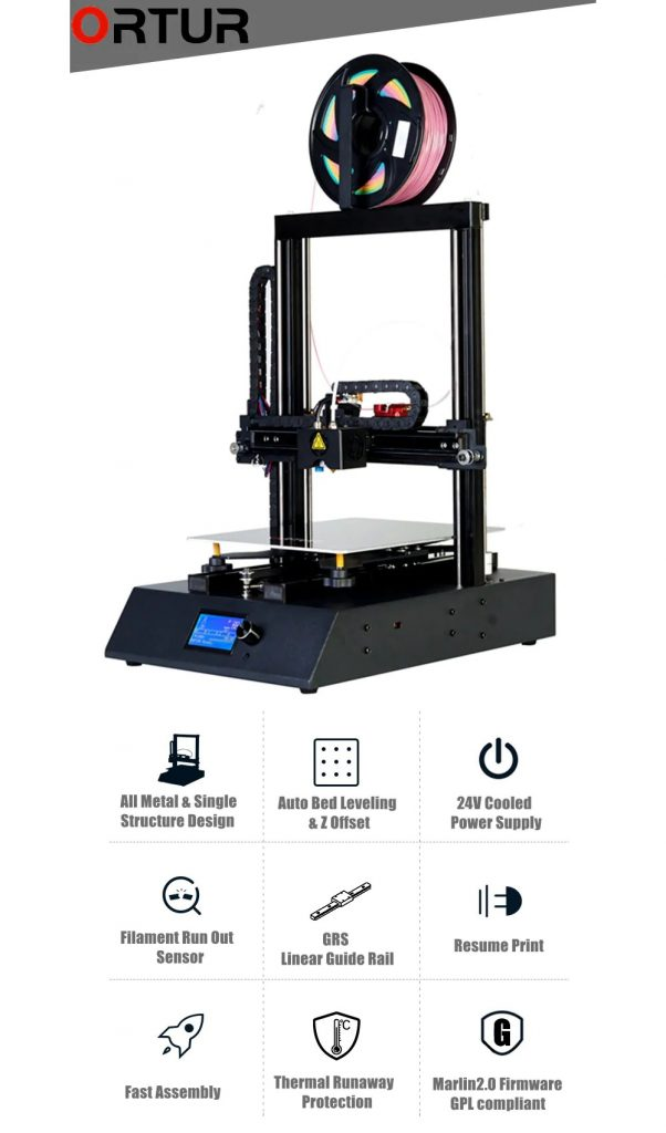 coupon, gearbest, Ortur Ortur 4 V1 GRS Linear Guide Rail High Speed Multifunctional Heavy Duty 3D Printer