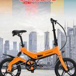 tomtop, bangoood, קופון, gearbest, Samebike JG7186 16 אופני טוסטוס חשמליים מתקפלים חכמים אופניים אלקטרוניים בסגנון חדש