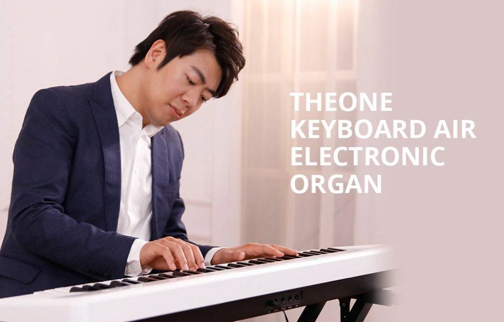 kupón, převodovka, TheONE Keyboard Air 61 Key Ultra-tenký a přenosný elektronický varhany od Xiaomi youpin