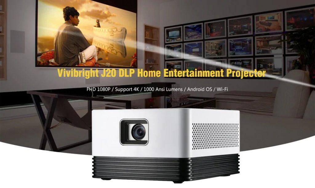 coupon, gearbest, Vivibright J20 DLP Home Entertainment Projector