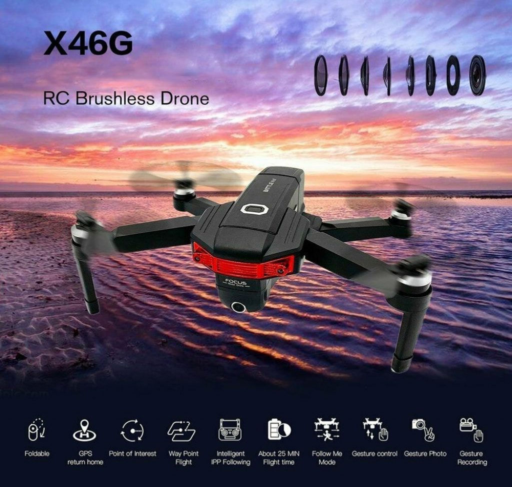 phiếu giảm giá, gearbest, X46G GPS 5G WiFi FPV với máy ảnh kép 4K Brushless RC Drone