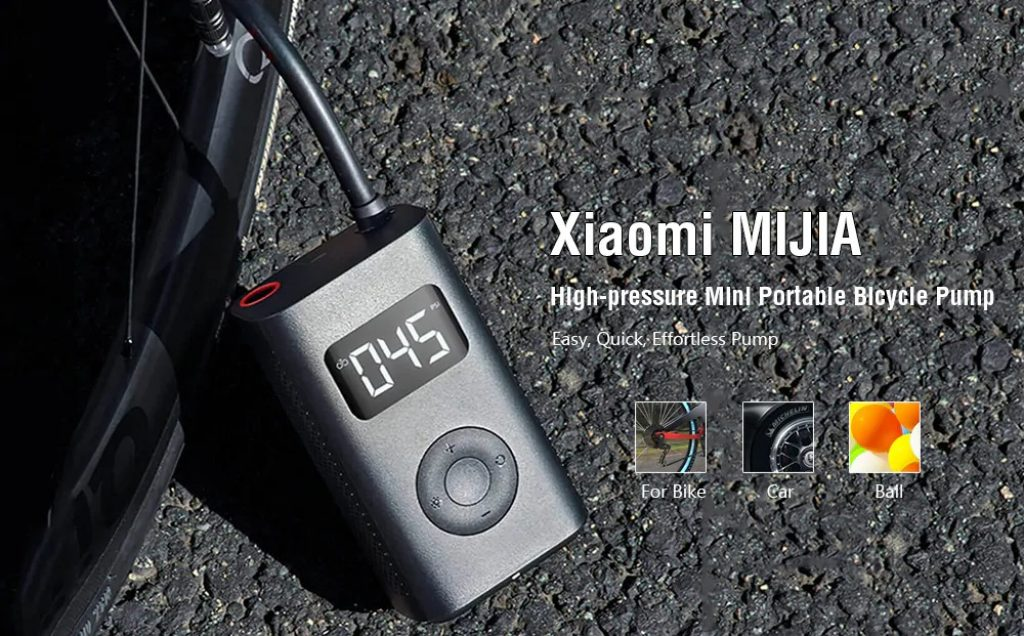 coupon, gearbest, Xiaomi MIJIA Bicycle Pump High Pressure