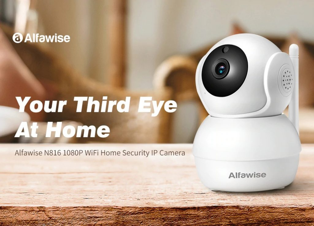 coupon, gearbest,Alfawise N816 AI Humanoid Detection 1080P WiFi IP Camera Smart Home Security with H.265 Video Encoding
